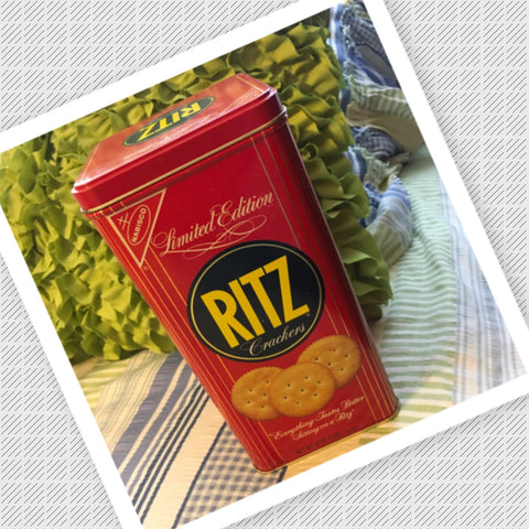 Tin Vintage Nabisco Ritz Cracker Limited Edition Advertising Tin Collector c. 1966 Kitchen Decor Storage Home Decor Gift Idea - JAMsCraftCloset