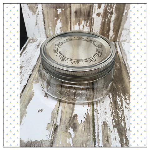 Ball Mason Glass Jar Vintage 2 Inches Tall 4 Inch Square 125 Gift - JAMsCraftCloset