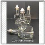 Bottle Vintage Olive Oil Dispenser Clear Glass Corked With NO Markings - JAMsCraftCloset