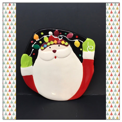 Candy Dish Christmas Holiday Santa Face Vintage Home Decor Gift Idea