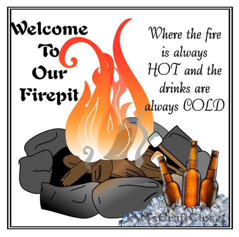WELCOME TO OUR FIREPIT - DIGITAL GRAPHICS  This file contains 6 graphics...  My digital SVG, PNG and JPEG Graphic downloads for the creative crafter are graphic files for those that use the Sublimation or Waterslide techniques - JAMsCraftCloset
