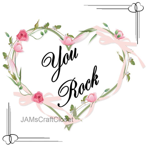 YOU ROCK - DIGITAL GRAPHICS  My digital SVG, PNG and JPEG Graphic downloads for the creative crafter are graphic files for those that use the Sublimation or Waterslide techniques - JAMsCraftCloset