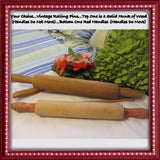 Rolling Pins Vintage Wooden 2 Choices Solid Wood Handmade Handles Attached Red Handled One - JAMsCraftCloset