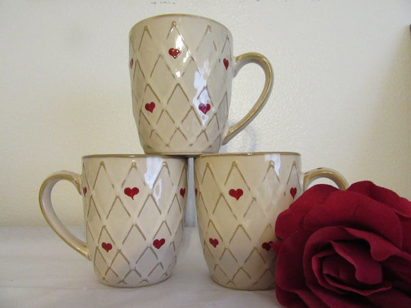 Mugs Home Essentials Vintage Hand Painted Hearts BUY 2 Get 1 FREE - JAMsCraftCloset
