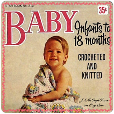 Crochet Knitting Patterns Vintage Star Book Number 210 Baby Infants to 18 Months - JAMsCraftCloset