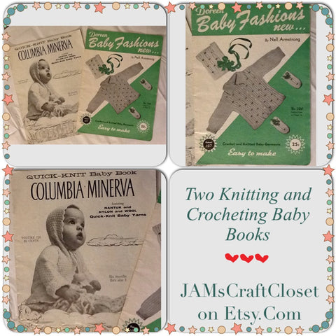 Crochet Knitting Pattern Books Baby Vintage 1955 Quick Knit Easy to Make - JAMsCraftCloset