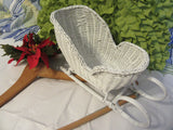Sleigh White Wicker  Vintage Waiting for You to Decorate - JAMsCraftCloset