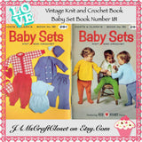 Knit and Crochet Book Vintage 1967 Coats and Clarks Baby Sets Number 181 - JAMsCraftCloset