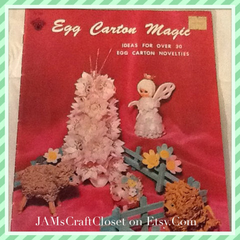Egg Carton Magic Book Vintage 1970 30 Egg Carton Novelties Craft for Kids - JAMsCraftCloset