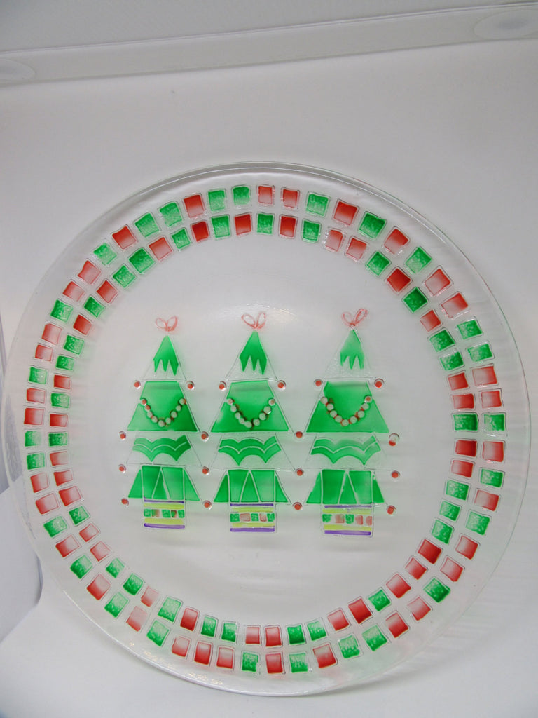 Plate Platter or Serving Dish Christmas Round Hand Painted Neiman Marcus 2001 - JAMsCraftCloset