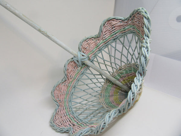 Basket Umbrella Vintage Multicolored - JAMsCraftCloset