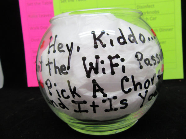 WiFi Password Fishbowl Chores for Kids Want the Password Pick a Chore - JAMsCraftCloset