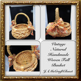 Basket Flower Girl Wedding Accessory Table Decor Vintage Natural Fall Wedding - JAMsCraftCloset