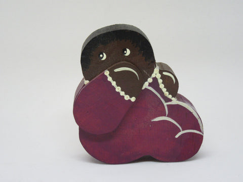 Shelf Sitter Baby Pickaninny  Tiny Black Americana Country Primitive Folk Art - JAMsCraftCloset