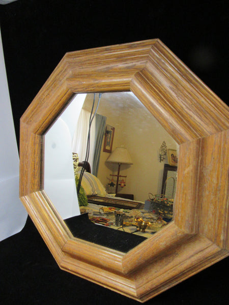 Wall Mirror Vintage Oak  Octagon - JAMsCraftCloset