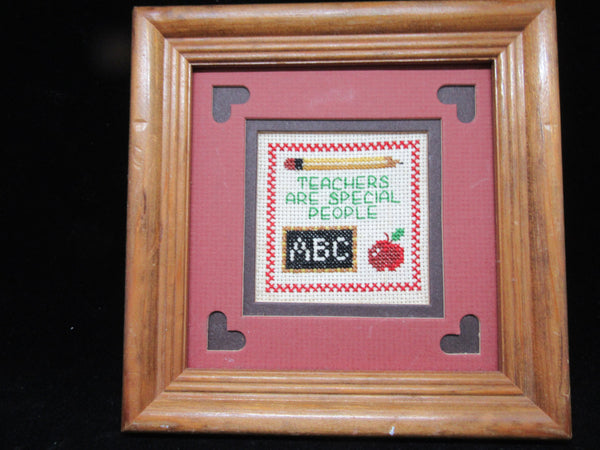 Framed Saying Teachers Are Special People Cross Stitch Matted - JAMsCraftCloset