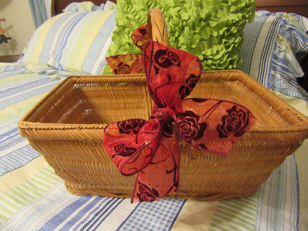 Basket Gathering Natural Vintage Wedding Centerpiece Table Home Country Decor Gift Storage - JAMsCraftCloset