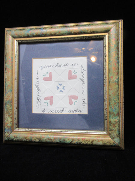 Wall Art Daughter Framed Matted Saying Your Heart is Always in the Right Place - JAMsCraftCloset