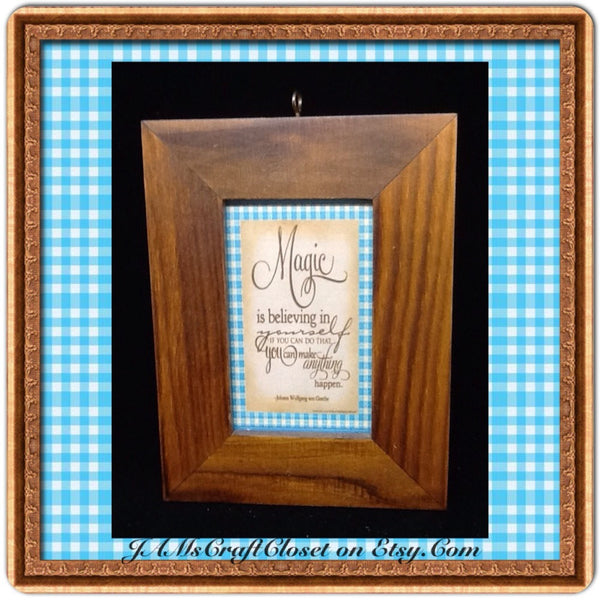 Affirmation Framed Positive Saying MAGIC IS BELIEVING IN YOURSELF Home Decor Gift Idea - JAMsCraftCloset
