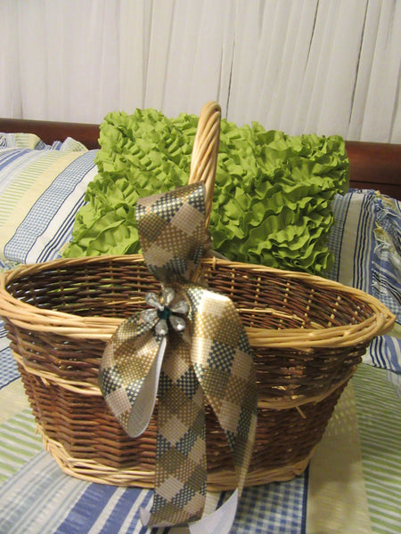 Basket Gathering Vintage Natural Centerpiece Country Decor Gift Storage - JAMsCraftCloset