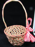 Basket Flower Girl Vintage Red Natural Basket Wedding Accessory Table Decor - JAMsCraftCloset