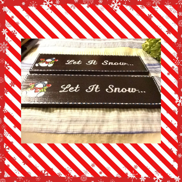 Wall Art Let it Snow Holiday Sign Christmas - JAMsCraftCloset
