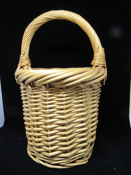 Basket Vintage Natural Woven Country  Primitive Decor - JAMsCraftCloset