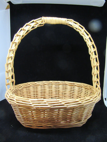 Basket Gathering OVAL Vintage Natural Woven - JAMsCraftCloset