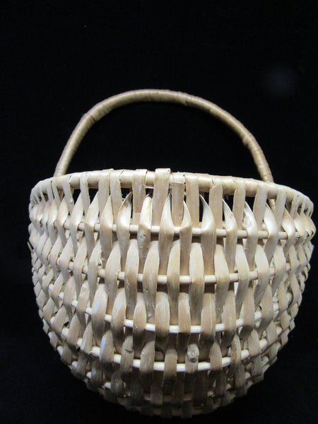 Basket Wall Hanging Natural Woven Wicker - JAMsCraftCloset