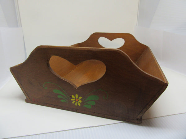 Serving Tray Small Vintage Handmade Hand Painted Folk Art Primitive - JAMsCraftCloset