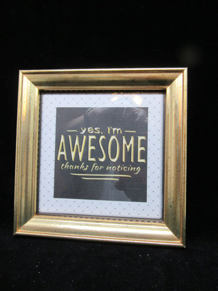 Wall Art AWESOME Positive Saying Framed Wall Art - JAMsCraftCloset