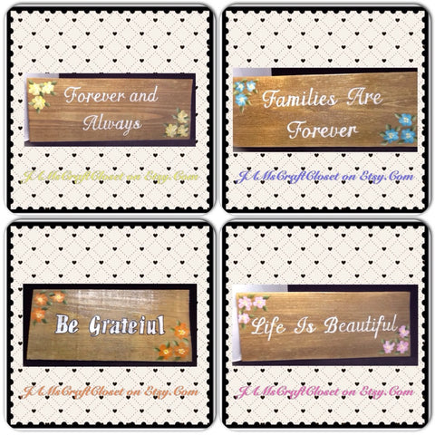Wooden Signs Positive Sayings Wall Art - JAMsCraftCloset