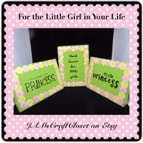 Sign Green Wooden Princess Wall Art Handmade Hand Painted - JAMsCraftCloset