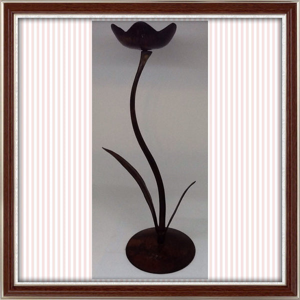 Pillar Holder Tulip Looks Vintage Handmade Shelf Sitter - JAMsCraftCloset