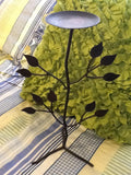 Candle Holder Vintage Black Bronze Leaves - JAMsCraftCloset