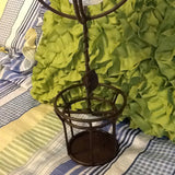 Candle Holder Vintage Wrought Iron Handmade Brown Tint Tea Light - JAMsCraftCloset