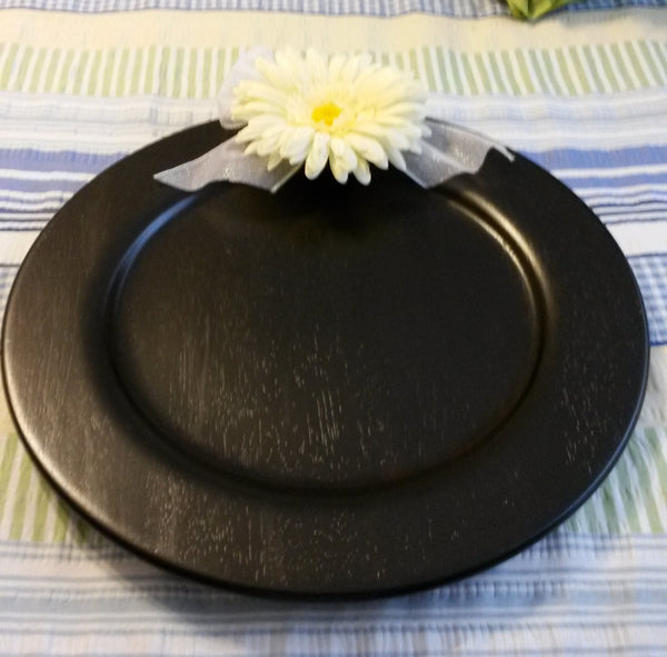 Chalkboard Round Hand Painted Yellow Floral Details - JAMsCraftCloset