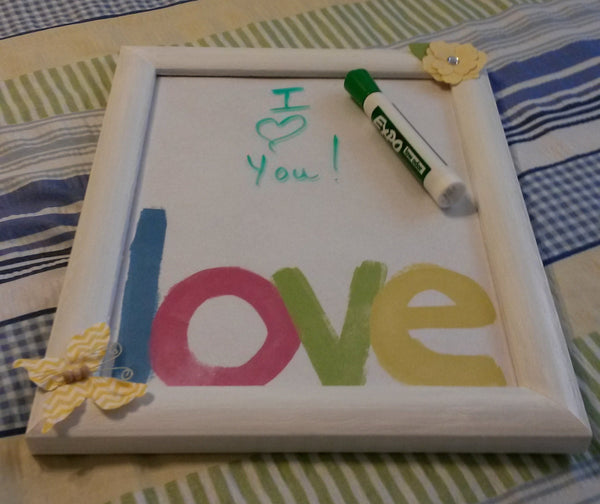 Whiteboard UpCycled Cottage Chic Hand Painted Frame 2 Other Choices Included Besides the LOVE Wall Art Office Decor Kitchen Decor Gift - JAMsCraftCloset