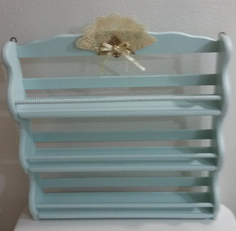 Hanging Shelf Spice Rack UpCycled Cottage Chic Mint Green Sitting Shelf Home Decor Kitchen Decor Country Decor Cottage Chic Victorian Gift - JAMsCraftCloset