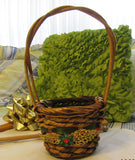 Basket Flower Girl Round Woven Christmas Wedding Accessory Table Decor - JAMsCraftCloset