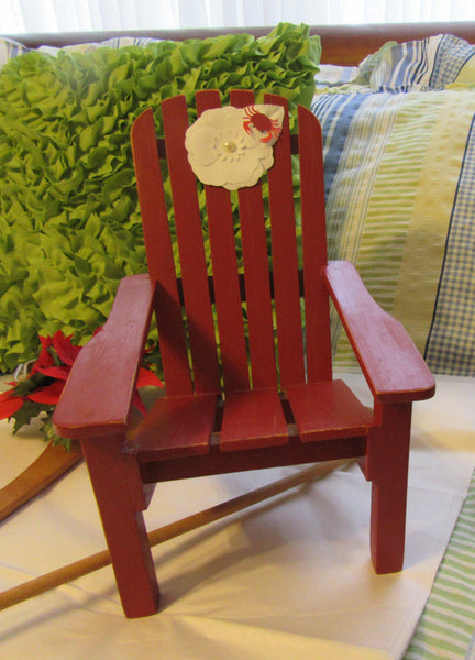 Chair Adirondack Small Unique One of a Kind Beach Accent Wooden - JAMsCraftCloset
