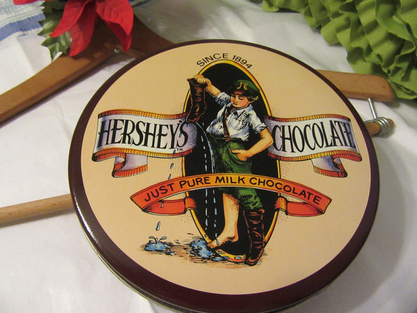 Hershey Advertisement Tin Round Unique Vintage Chocolate Collector for Your Country Decor Kitchen Decor Home Decor Gift Idea Storage Collectible - JAMsCraftCloset