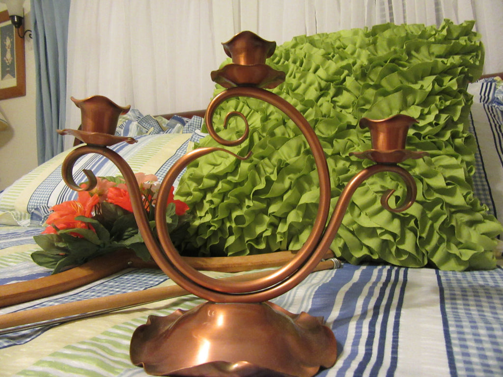 Candle Holders Gregorian Copper Vintage 3 Cup Made in the USA - JAMsCraftCloset