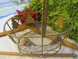 Basket Holiday Gold Wire Christmas Tree - JAMsCraftCloset