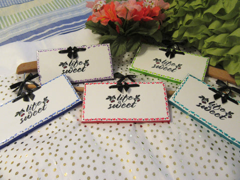 Affirmation Ceramic Tiles LIFE IS SWEET - JAMsCraftCloset