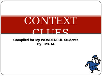 Context Clues Complete PowerPoint Lesson With ANSWER KEYS Teacher Resource  JAMsCraftCloset