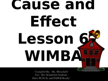 Cause and Effect Complete Teacher PowerPoint Lesson JAMsCraftCloset