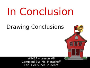 Drawing Conclusions-Complete Teacher Lesson on PowerPoint JAMsCraftCloset
