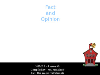Fact and Opinion-Complete Teacher Lesson on PowerPoint JAMsCraftCloset