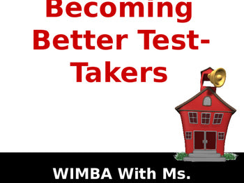 Becoming A Better Test Taker PowerPoint Complete Teaching Lesson JAMsCraftCloset